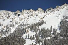 Snowy Mountain Summit Stock Image