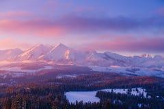 Snowy mountain summits royalty free stock photos