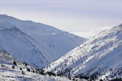 Snowy mountain terrain Stock Image