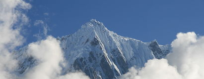 Snowy mountain in Tibet Royalty Free Stock Photography