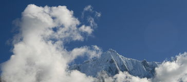Snowy mountain in Tibet Stock Image