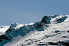 Snowy mountain top Royalty Free Stock Image