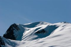 Snowy mountain top Stock Image