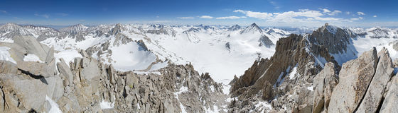 Snowy Mountain Top Panorama Royalty Free Stock Images