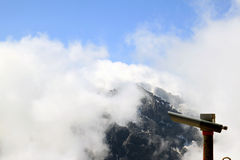 Snowy mountain top seen from the Swiss Schilthorn Stock Photography