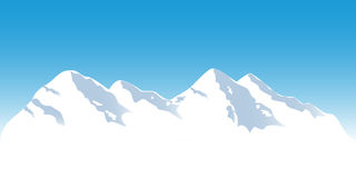 Snowy mountain tops Royalty Free Stock Photo