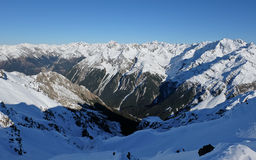 Snowy Mountain Views from the Summit of Avalanche Peak. Royalty Free Stock Image