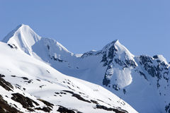 Snowy mountain in winter Royalty Free Stock Image
