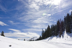 Snowy mountain winter landscape Royalty Free Stock Images