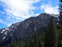 Snowy Mountain in Yosemite Stock Images