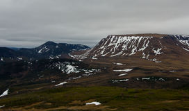 Snowy Mountainous Landscape of Gros Morne National Park Stock Photos