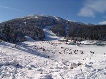 Snowy mountains. Bijelasnica snowy mountains in Bosnia and Herzegovina Royalty Free Stock Photos