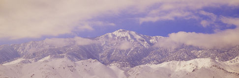 Snowy mountains Royalty Free Stock Photo