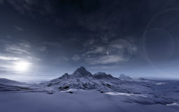 Snowy mountains. An image of a snowy mountains scenery stock illustration