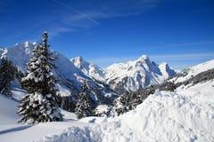 Snowy mountains Royalty Free Stock Photos