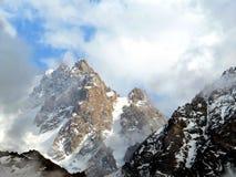 Snowy mountains. In Ala-Archa gorge, Kyrgyzstan Royalty Free Stock Photo