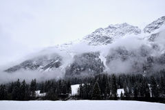 Snowy mountains, Alps, Germany Stock Photos