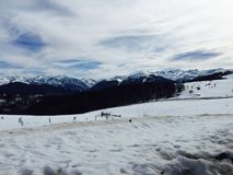 Snowy Mountains in Andorra Royalty Free Stock Image