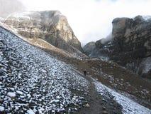 Snowy mountains of Annapurna, Nepal Royalty Free Stock Photo