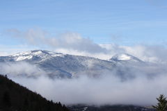Snowy mountains in Ariege,  France Royalty Free Stock Image