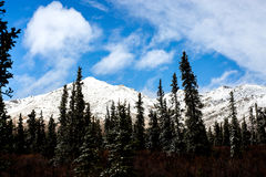 Snowy Mountains and Blue Skies Stock Images