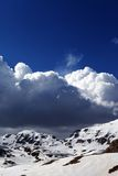 Snowy mountains and blue sky Royalty Free Stock Photo