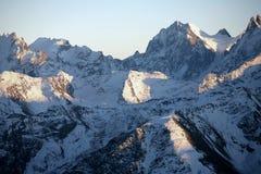Snowy mountains, caucasus area Stock Photos