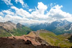 The mountains of Caucasus in July stock photo