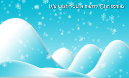 Snowy mountains. Christmas card illustration royalty free illustration
