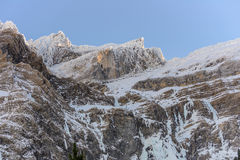Snowy mountains at cirque de Gavarnie Royalty Free Stock Images