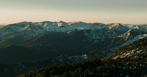 Snowy mountains. Mountains covered with snow, in the forest of Chrea, Blida, Algeria Stock Photos