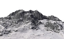 Snowy mountains. 3d render Royalty Free Stock Photography