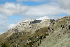Snowy Mountains Dolomites - The Italian Alps Royalty Free Stock Images
