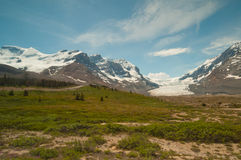 Snowy mountains and glacier Royalty Free Stock Photo