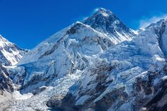 Snowy mountains of the Himalayas Stock Photos