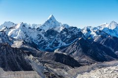 Snowy mountains of the Himalayas Stock Image