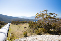 Snowy Mountains Hydro Surge Tank. The Snowy Mountains Hydro scheme surge tank on Kosciusko Rd on a sunny autumn day in New South Wales, Australia Stock Images