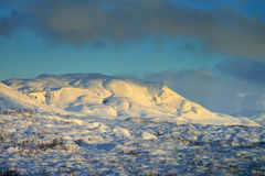 Snowy mountains, Iceland Stock Image