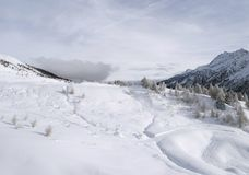 Snowy mountains, italy Royalty Free Stock Photos