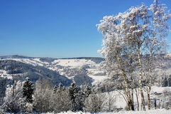 Snowy mountains. Krkonose in Europe Stock Image