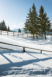 Snowy mountains landscape Stock Photography