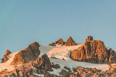 Snowy Mountains Landscape, Patagonia, Chile. Snowy mountains landscape scene at chilean patagonian territory Royalty Free Stock Images
