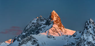 Snowy mountains Stock Images