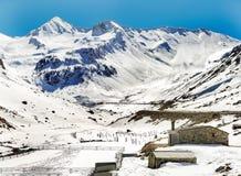 Snowy mountains Stock Image