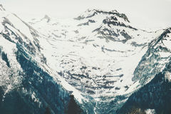 Snowy Mountains moody Landscape Royalty Free Stock Photos