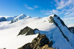 Snowy mountains Stock Photo