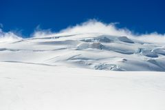Snowy mountains Stock Photography