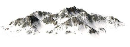Snowy Mountains - Mountain Peak sisolated on white Background