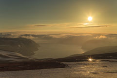 Snowy Mountains of North Cape Stock Photography
