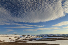 Snowy Mountains of North Cape Stock Image
